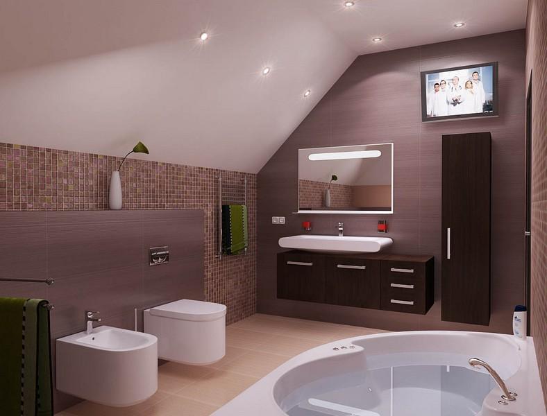 Дизайн ванных комнат фото в коттеджей